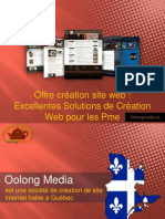 Offre création site web :Excellentes Solutions de Création Web pour les Pme