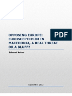 Policy Paper-Opposing Europe-Macedonia and Euroskepticism