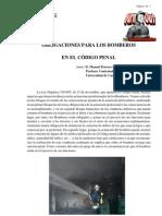 Obligaciones para Bomberos en el Código Penal, Español