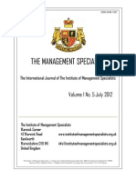 The Management Specialist Vol 1 No 5