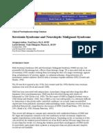 Serotonin Syndrome and Neuroleptic Malignant Syndrome