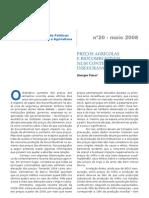 2008_PREÇOS AGRÍCOLAS E BIOCOMBUSTÍVEIS NUM CONTEXTO DE INSEGURANÇA ALIMENTAR-georges_flexor