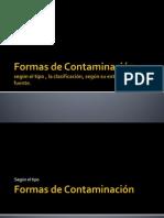 Formas de Contaminación.