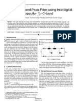 Miniaturized Band Pass Filter using Interdigital Capacitor for C-band
