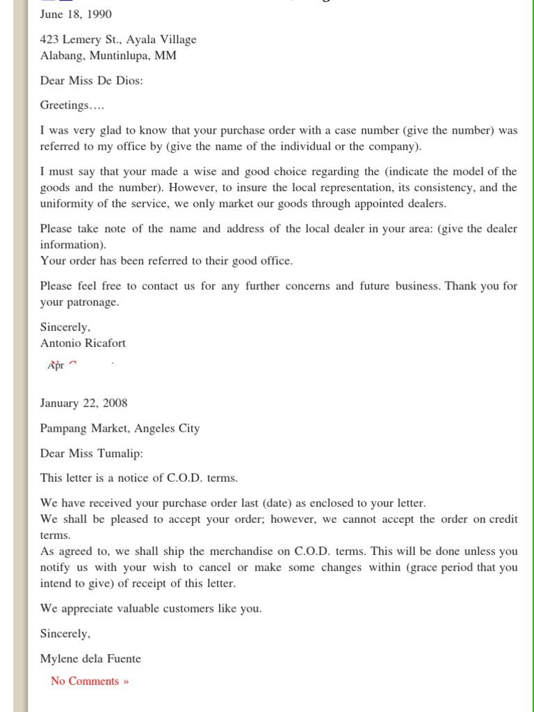 Order letters business letter samples business business order letters business letter samples business business general spiritdancerdesigns Images