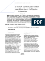 An ICT Based SCADA-NET Simulator System for Teaching and Learning in the Nigerian Universities