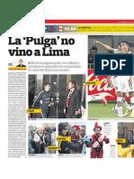 La 'Pulga' no vino a Lima