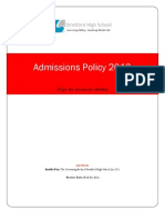 Admissions 2013