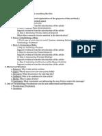 Rhetorical and Introduction Analysis