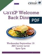 Welcome Back Dinner