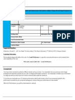 Lead Performer Assign Brief