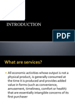 Introduction to service marketing