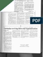 School Regionalization Newspaper Clippings - 1990s
