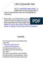 comp law veil In every company law book salomon v salomon1 is the case which is most recognised the importance of this case lies in the fact that it establishes that the company.