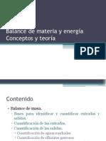 3.4. Balance de materia y energía