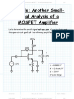 Example Another MOSFET Small-Signal Analysis