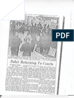 Zuber Returning to Courts - Bergen Record Article, 1963
