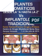 Invitacion VI Curso Implantes Cigomáticos Julio 2013