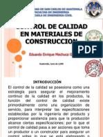 Control de Calidad de Materiales de Construccion