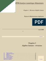 CHAPITRE 1 - ALGÈBRE LINÉAIRE