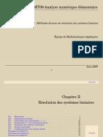 CHAPITRE 2 - RÉSOLUTION DES SYSTÈMES LINÉAIRES