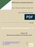 CHAPITRE 3 - RÉSOLUTION DES PROBLÈMES DE MOINDRES CARRÉS