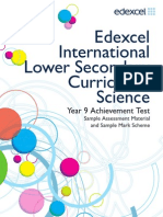 International Lower Secondary Curriculum SAM Science Booklet 2012