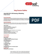 AutoCAD 2013 3D Drawing and Modeling