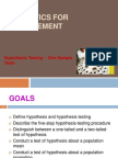 Chapter 8 - Hypothesis Testing