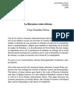 César González_La literatura como sistema