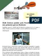 Hulk destaca paixão pela Paraíba ao marcar seu primeiro gol no Nordeste