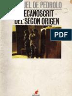 Mecanoscrit Del Segon Origen (CAT) - Manuel de Pedrolo