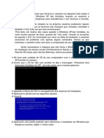 Defeito de inicialização Windows XP