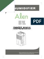Alen Dehumidifier Manual