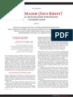 Isa Al-Masih (Isus Krist) u djelima muslimanske pobožnosti i sufijske nade - dr. Enes Karić