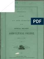 Addresses Delivered at the Opening of the Iowa State Agricultural College, 1869