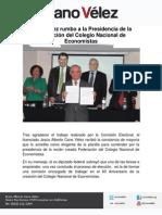 10-09-12 Cano Vélez rumbo a la Presidencia de la Federación del Colegio Nacional de Economistas