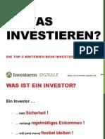 In Was Investieren