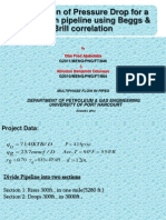 Calculation of Pressure Traverse Using Beggs and Brill