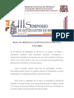 Bases Academicas Del III Simposio de Estudiantes de Historia - Unt 2012/CEHUNT