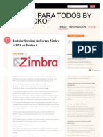 Ubuntuparatodos.wordpress.com 2011-07-10 Instalar Servidor de Correo Zimbra DNS