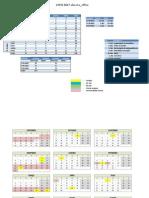 Calendário 2012-2013 - 7ºA