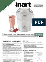 Cuisinart Ice Cream Maker - Ice-25