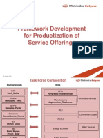 Framework Development for Productization of Service Offerings