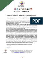 NOTA DE PRENSA - Curso de árbitros
