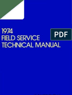 1974 Field Service Technical Manual Dec74   Calibration