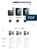 iPhone 4, iPhone 4S ႏွင့္ iPhone 5 ႏႈိင္းယွဥ္ခ်က္
