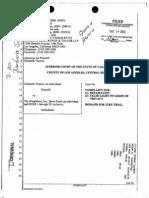 Thieriot lawsuit -- judge's order
