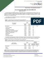 Indice de Precios al  Consumidor - GBA Base Abril 2008 - 100 (Agosto 2012)