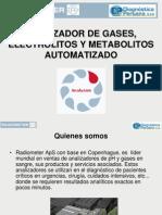 Analizador de Gases, Electrolitos y Metabolitos Automatizado
